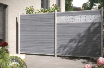 Sichtschutz System WPC Platinum