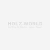 System WPC Doppeltor mandel 2036 H:180cm, Silberrahmen, Sonderbreite